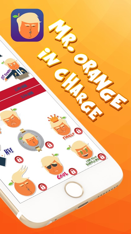 Mr. Orange in Charge – Stickers for iMessage