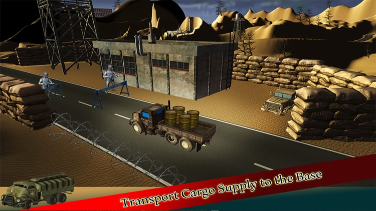 Heavy Off-road Army Truck Driver Parking Simulator screenshot-3