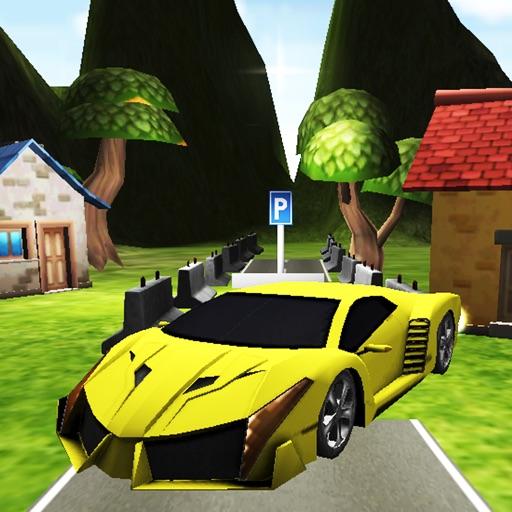 Car Park City Land 3D