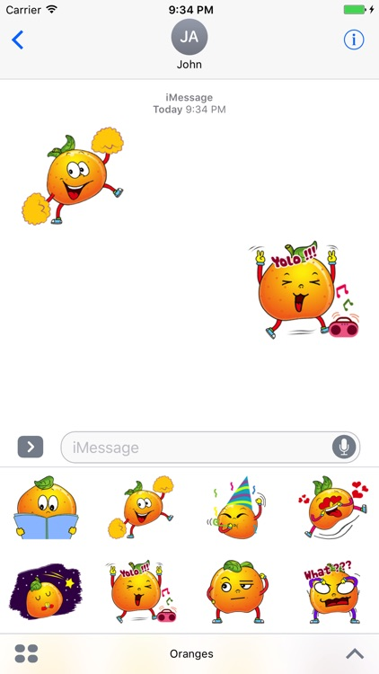 Emoji Oranges Stickers screenshot-4