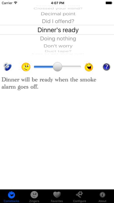 iZinger : Snappy comebacks and zingers! screenshot one