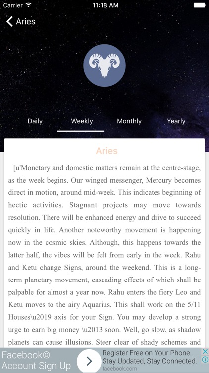 Horoscope Pro 2017 screenshot-1