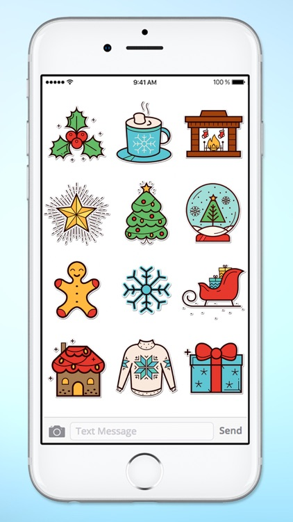 Winter Holiday Icons Sticker Pack screenshot-3