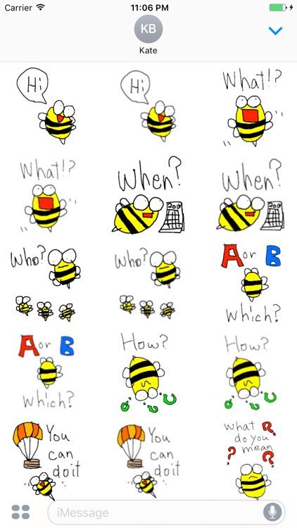 Peet The Little Cute Bee English Sticker screenshot-4