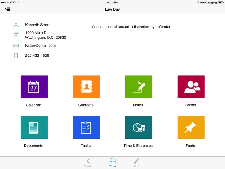 CaseManager For iPad