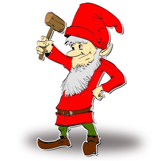 Santa Old Elf Little Helper at XMAS