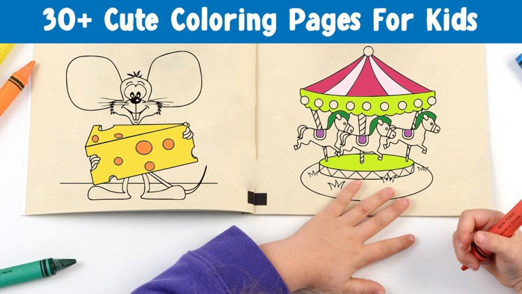 Kids Coloring Book! Draw, Color & Paint Sparkles
