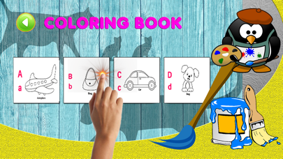 ABC learning english vocab and coloring games