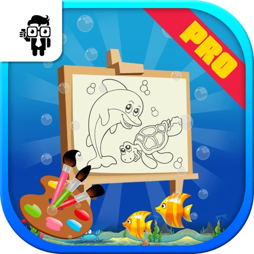 Fish Kids Coloring Book Pro