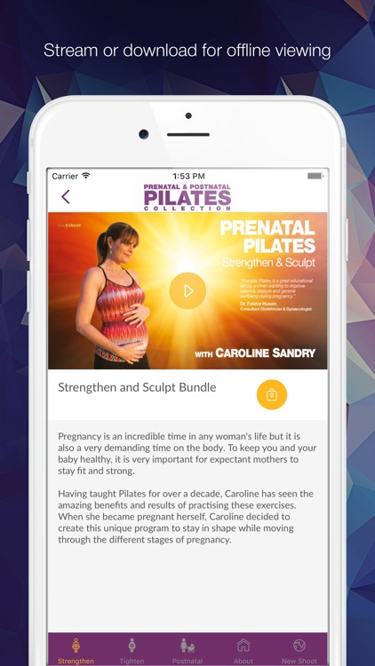 The Pregnancy Pilates Videos with Caroline Sandry