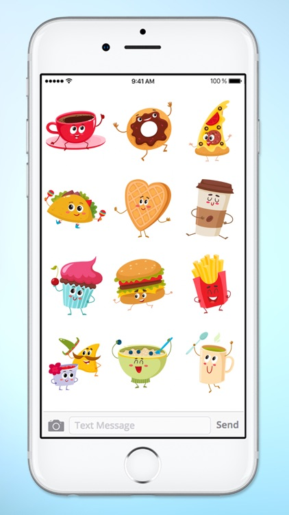 Fun Breakfast and Lunch Food Sticker Pack