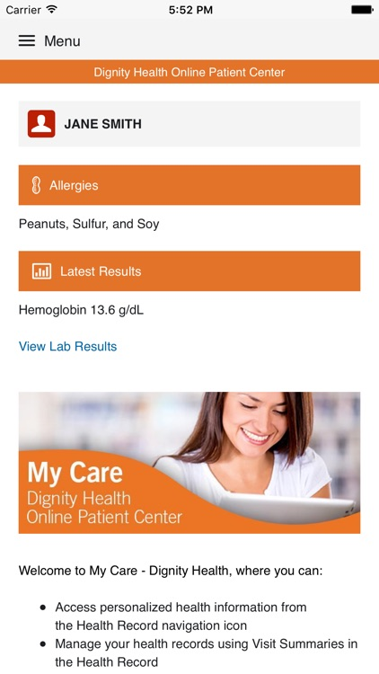 My Care - Dignity Health screenshot-0