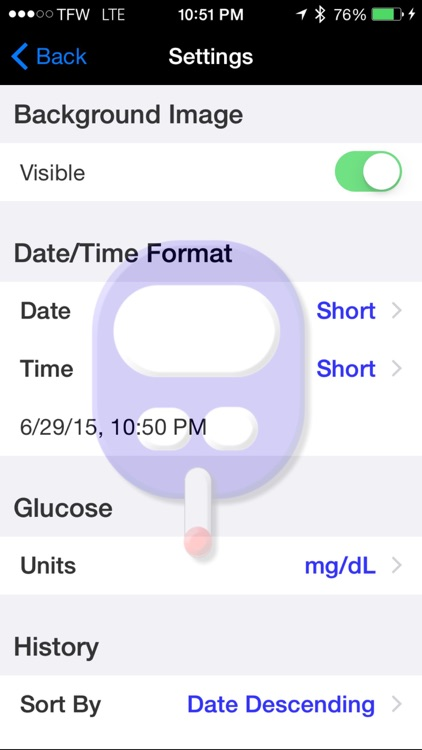 Gluco Logger for iPhone and iPad