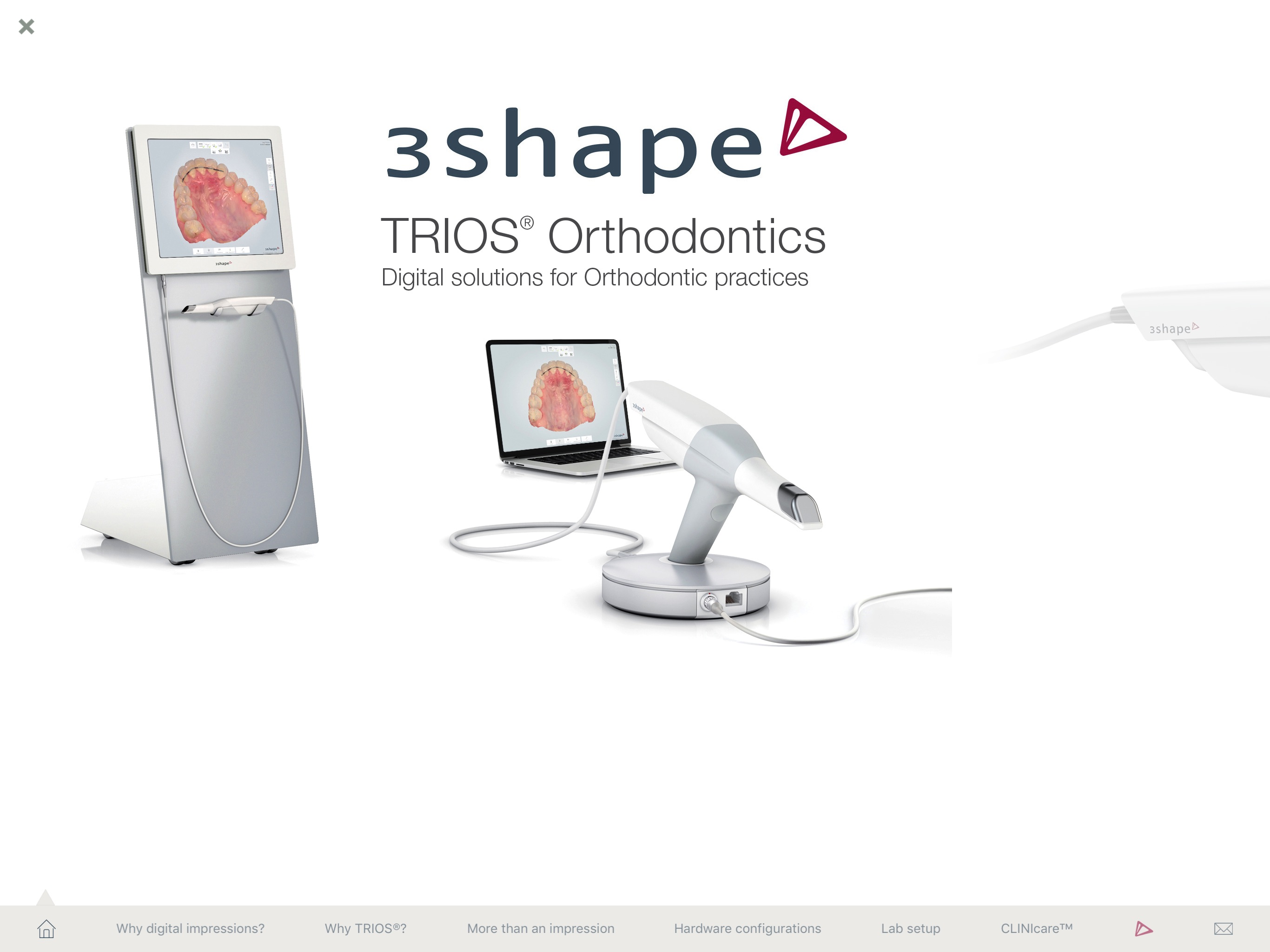 3Shape TRIOS® ortho clinics Screenshot