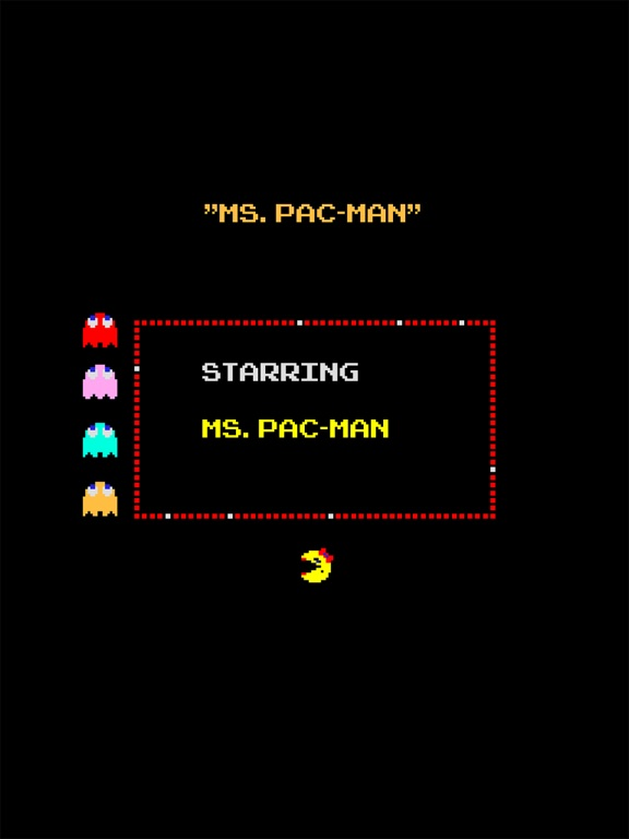 Screenshot from Ms. PAC-MAN for iPAD Lite