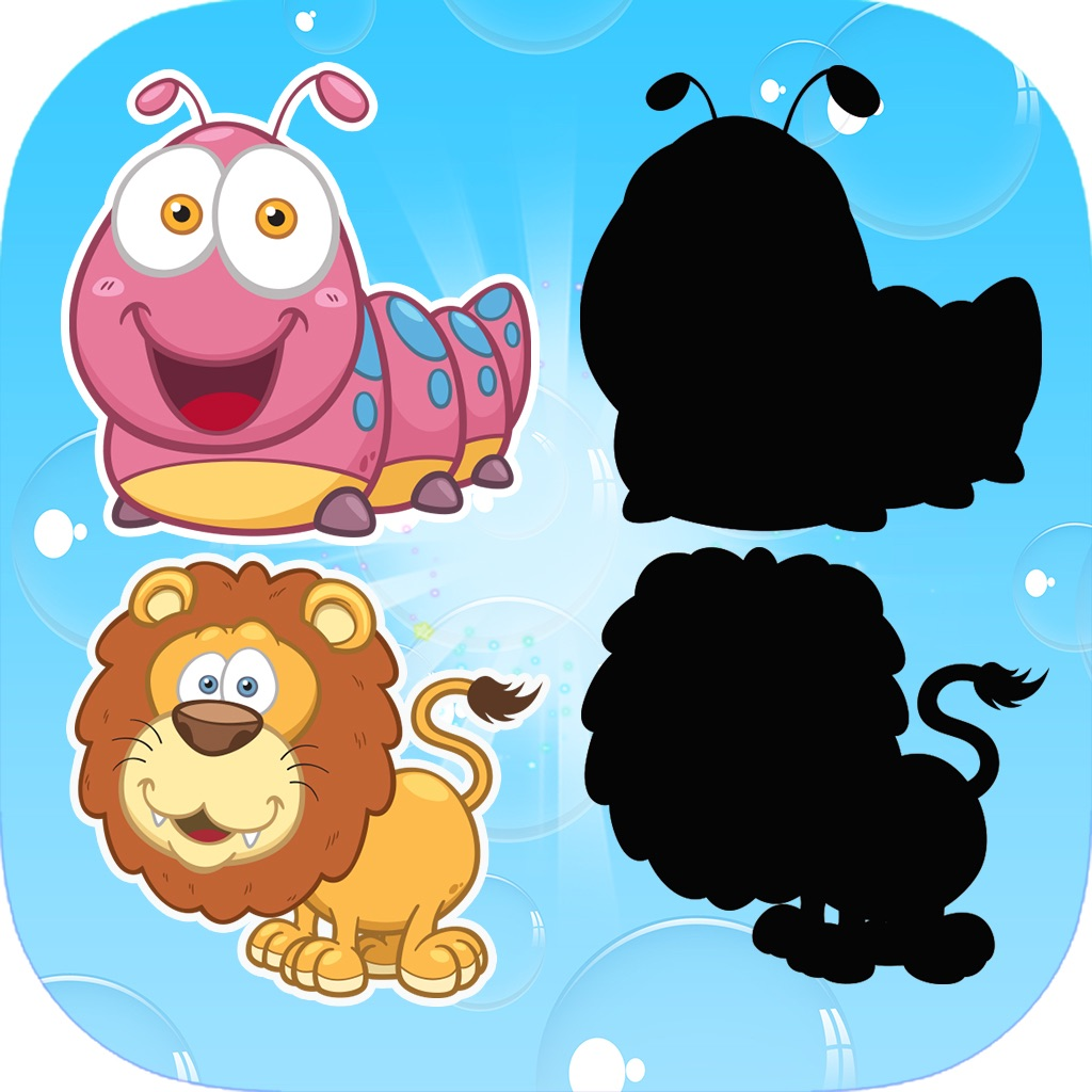 Animals Shadow Puzzle Game - Learn Shape For Kids hack