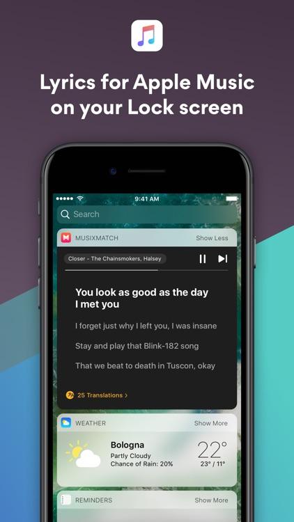 Musixmatch Lyrics Finder app image