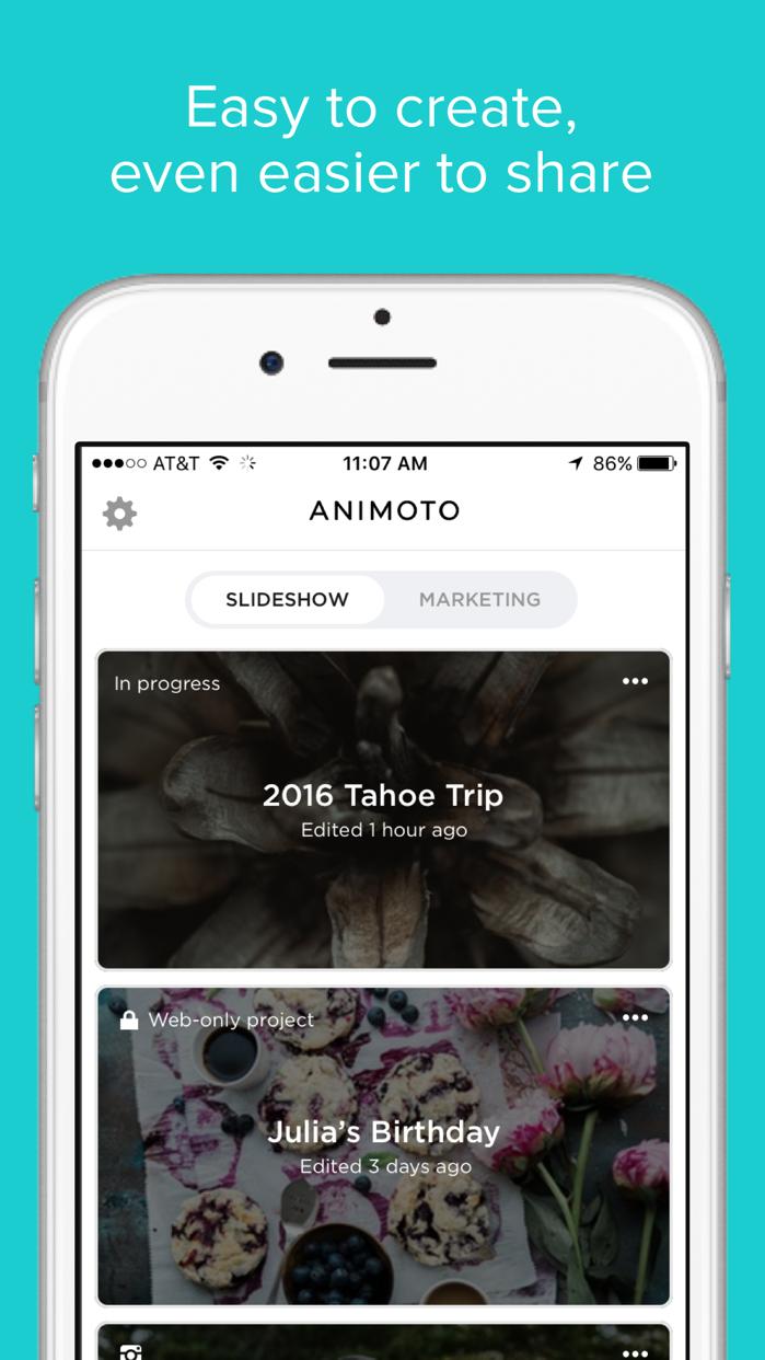 Animoto Video Slideshow Maker Screenshot