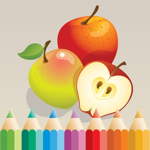 Fruit Coloring Book Learn To Color Draw Fruits By Phu Vang