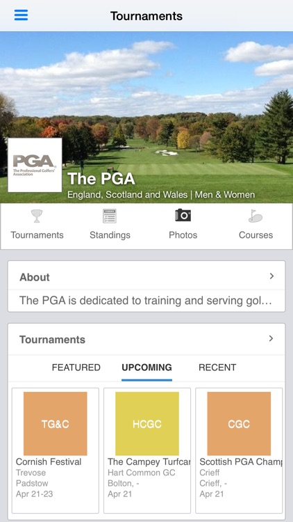 The Professional Golfers' Association