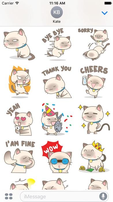 Simi the Siamese kitten 3 for iMessage Sticker
