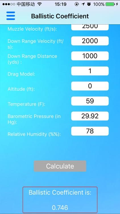 Ballistic Calculator - Range Finder, Trajectory