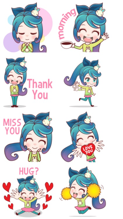 Mobile Girl Stickers