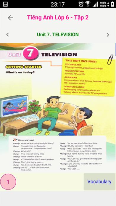 Tieng Anh 6 - English 6 - Tap 1 screenshot 3