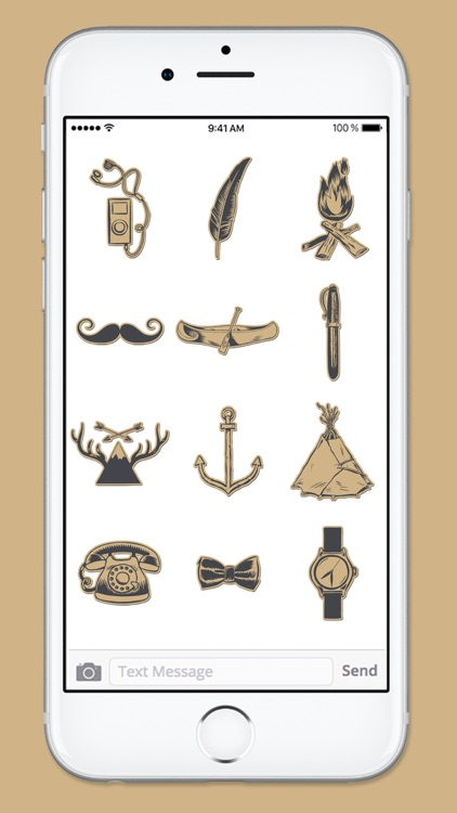 Hipster at Heart Hand Drawn Sticker Pack screenshot-4