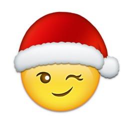 Emoji Added - Sticker with Christmas,Santa,Holiday