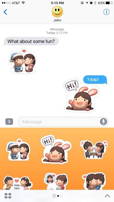 Mädchen mit Freund Lolo StickerScreenshot von 2