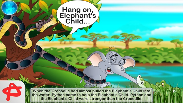The Elephant's Child: Interactive Story Book screenshot-4