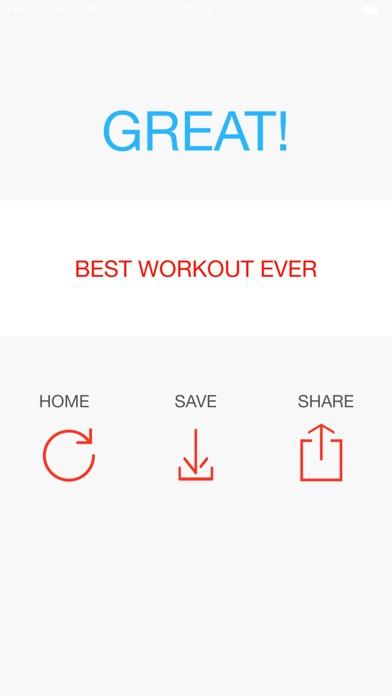 Quick workout - shape you up! screenshot 3