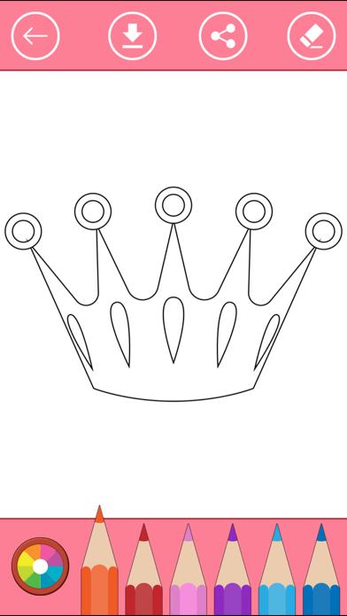 Royal Coloring Book: Color princess, castle, ... screenshot four