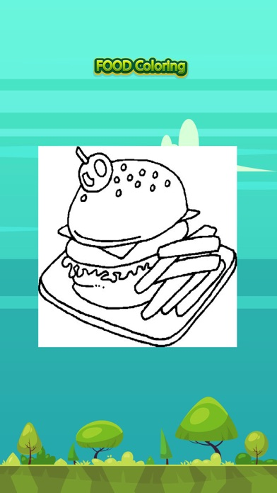 Food Painting Coloring Book for Kids Learning Game screenshot one
