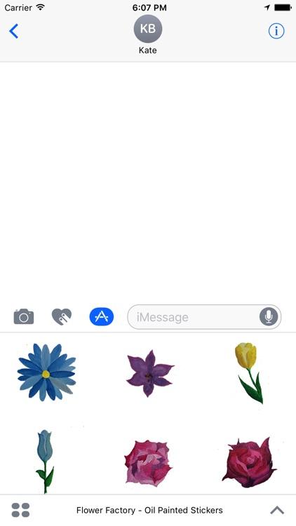 Flower Factory - Original Painted Stickers screenshot-3