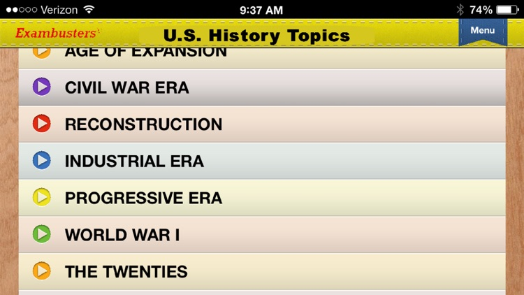 SAT US History Prep Flashcards Exambusters