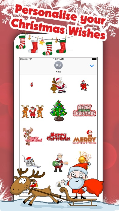 Best Animated Christmas StickersScreenshot von 3