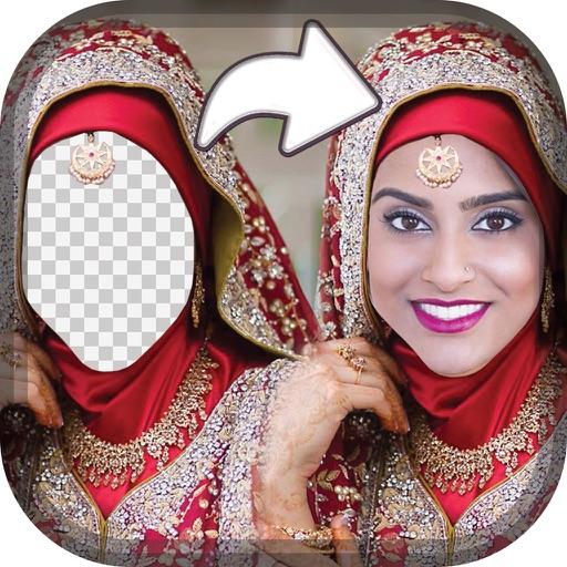 Wedding Hijab Photo Montage - Free Face Decorator