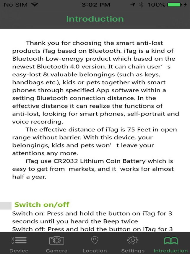 Bluetooth itag on the App Store
