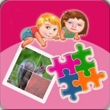儿童益智拼图游戏大全集-儿童学习拼动物乐园