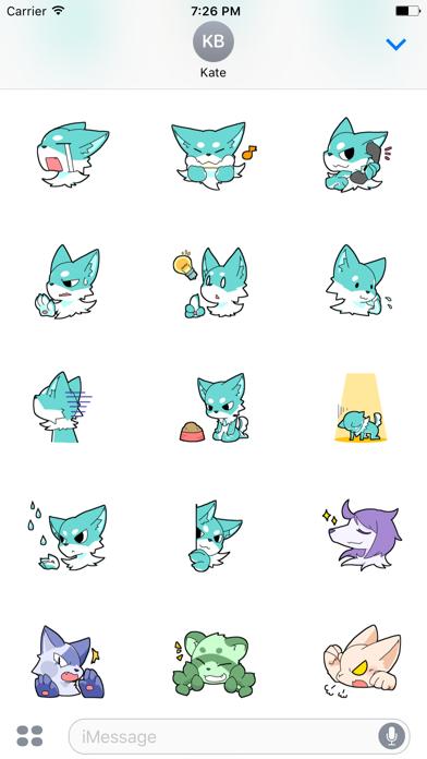 Funny Wolf Animated Sticker screenshot three
