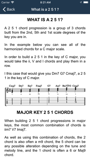 Matt Warnock Guitar 251 Chords on the App Store