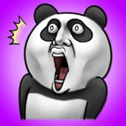 Toothy panda - Cool Animal Stickers!