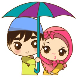 Sweet moslem couple 1 for iMessage Sticker