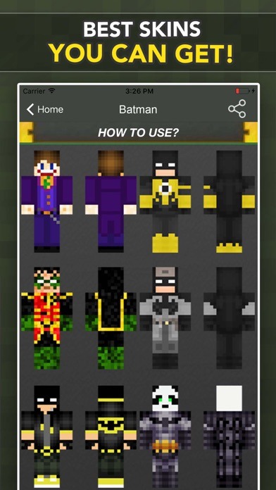 Best Skins For Batman Fans For Minecraft PE PC By Fatna Chaib IOS - Skin para minecraft pe pc