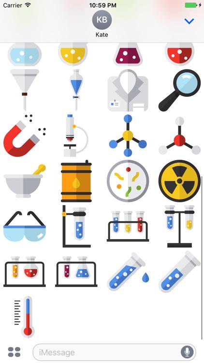 Science Stickers - Emojis for Geeks screenshot-3