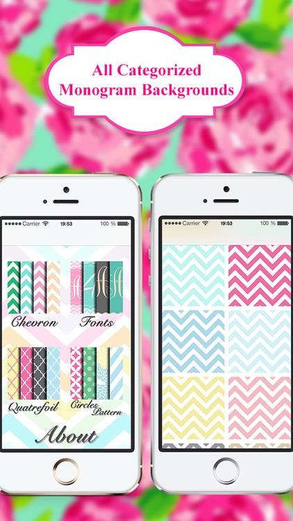 Monogram App - Wallpaper & Backgrounds for iPhone screenshot-3