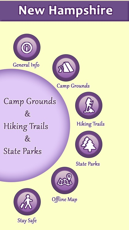 New Hampshire Campgrounds And Hiking Trails screenshot-0