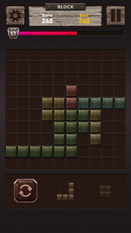 Wooden Block Puzzle - brain cross word fit fingers